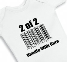 2 of 2 Handle with care - Twin Baby Onesie
