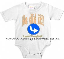He Did It I was sleeping - Twin Baby Onesie