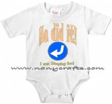 He did it I was Sleeping Too - Twin baby Onesie
