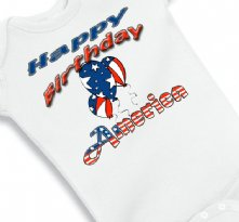 Happy Birthday America - Independence day Baby Onesie