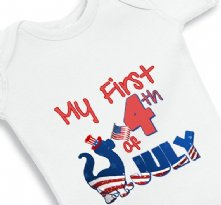 My First 4th of July Patriotic Dino baby onesie