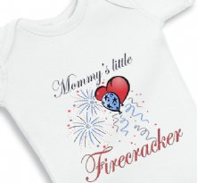 Mommys Little FireCracker Baby Onesie