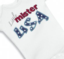 Little Mister USA Baby Onesie