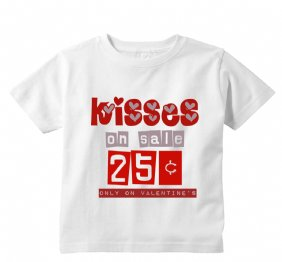 Kises on Sale 25 cents only on Valentines baby onesie