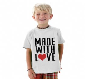 Made With Love Baby Bodysuit or Kids Shirt
