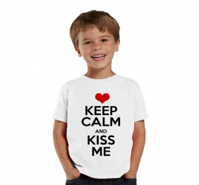 Keep Calm and Kiss Me baby Bodysuit and Kids Shirt