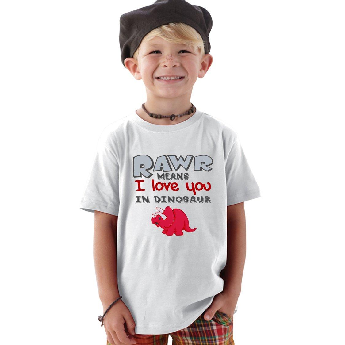 RAWR Means I love You in Dinosaur baby bodysuit or kids ...