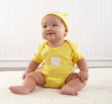 Crayonsies Two-Piece Sunshine Yellow Baby Gift Set