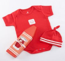Crayonsies Two-Piece Wagon Red Baby Gift Set