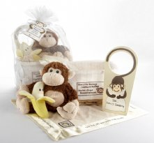 Five Little Monkeys Five-Piece Baby Gift Set in Keepsake Basket