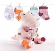 Croc in Socks Baby Socks Shower Gift Set Pink