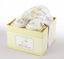 Dilly the Duck Four-Piece Bathtime and Baby Shower Gift Set