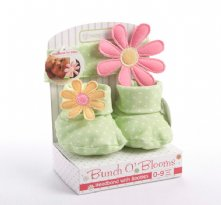 Bunch O Blooms Headband and Bootie Gift Set