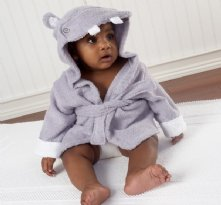 Hippo Hooded Bath Robe baby shower present