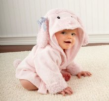 Pretty in Pink Poodle Hooded Spa Robe
