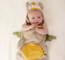 My Little Night Owl Snuggle Sack and Cap unique baby gift