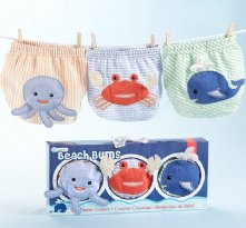 Beach Bums 3-Piece Diaper Cover Gift Set