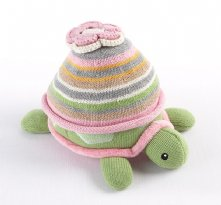 Baby Hat and Turtle Plush Gift Set (Pink)