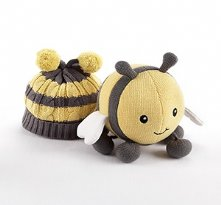 Plush Toy and Critter Couture Knit Cap for Baby