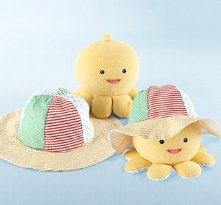 Little Wader and Sun Shader Baby Sunhat and Plush Octopus Gift