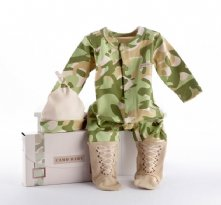 Big Dreamzzz Baby Camo Two-Piece Layette Set in Backpack Gift Box