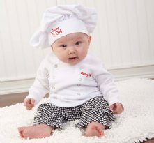 Big Dreamzzz Baby Chef Three Piece Layette in Culinary Themed Gift Box