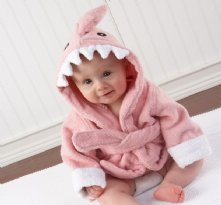 Shark Robe-pink Baby shower present