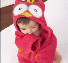 My Little Night Owl Hooded Terry Spa Robe Pink - Baby shower present