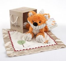 Fox in a Box Plush Fox and Lovie Baby Shower Present Gift Set