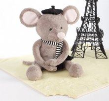 Monsieur leSqueak and Blankie Fantastique Plush Mouse and Blanket Baby Shower Present Gift Set