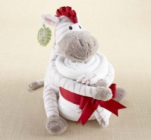 Blanket and Plush Zebra Zoey the Zebra baby gift set