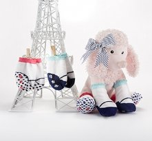 Poodle Paws Plush Poodle with Socks for Baby