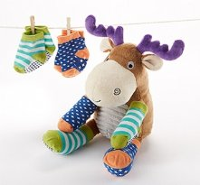 Moose Tracks Moose Plush with Socks for Baby