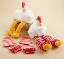 """Chicken Legs"" Plush Chicken and Leg Warmers for Baby (0-12 Months)"