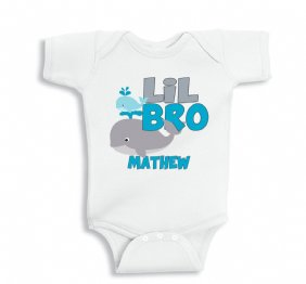 LIL Bro The Whale shirt or Bodysuit