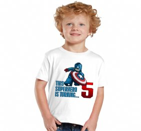 Personalized USA Superhero Birthday Boy Shirt