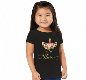 Personalized UNICORN Gold Glitter Girl