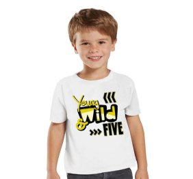 Young Wild and Birthday Shirt for Boys