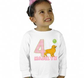 Birthday Girl Goldie the golden retriever Shirt or Bodysuit