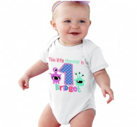 This Little Monster is 3 Birthday Girl Shirt