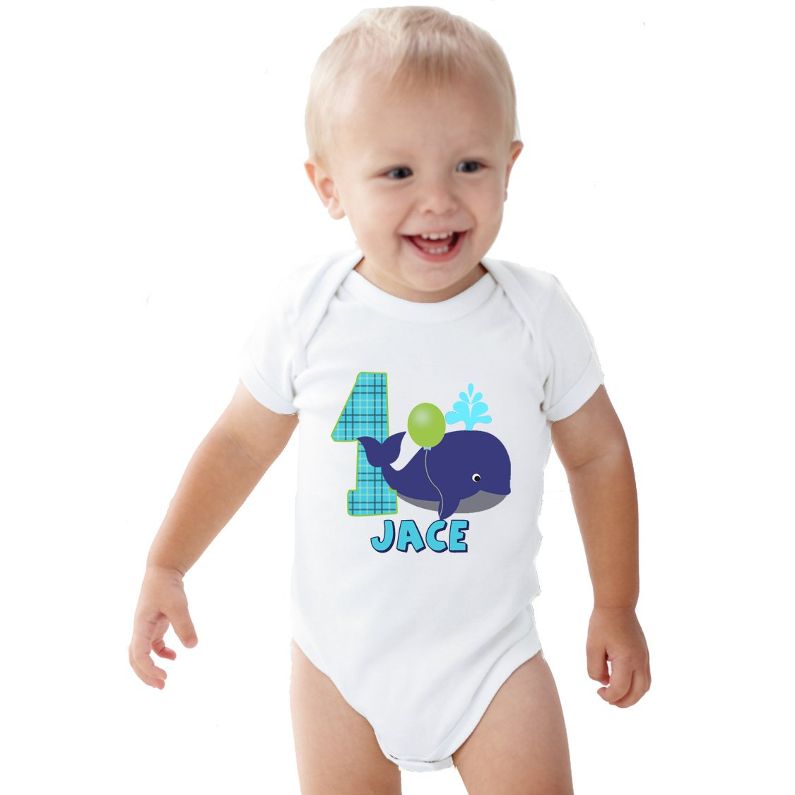 1 Year Old Blue The Whale Birthday Boy Shirt