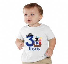 Personalized Pirate Birthday Boy Shirt