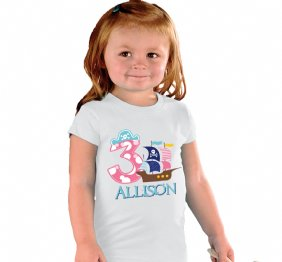 Pirate Birthday Girl Shirt