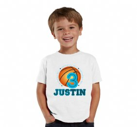 Basketball birthday boy personalized birthday shirt for boys