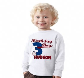Baseball Birthday Boy Personalized Tee