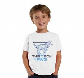 This Boy is Tyrannous Personalized Birthday Boy Shirt