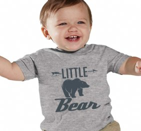 charcoal Little Bear Heather Shirt