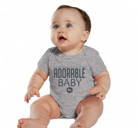 Charcoal Adorable baby Heather shirt