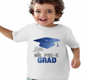 Little Mister Mr. PRE-K Grad Electric Blue Custom graduation Shirt