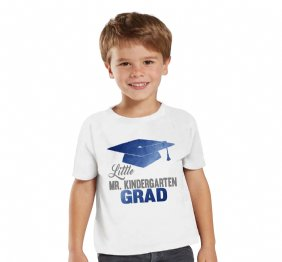 Little Mister Kindergarten Grad Electric Blue graduation Custom Shirt